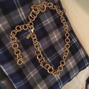 Vintage Limited gold chain belt